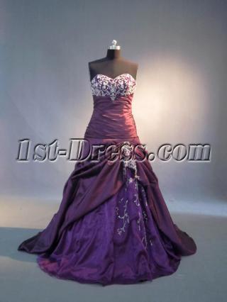 Grape Purple Pretty Quinceanera Dresses IMG_4017
