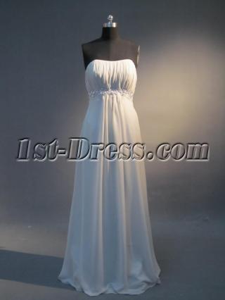 Gray Empire Pregancy Prom Dress IMG_3933