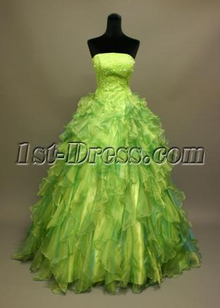 Green Princess Quincenera Dress IMG_6837