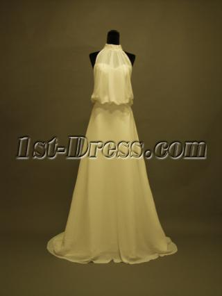 Halter Style Wedding Gowns Mature Bride 356