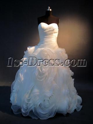 Luxury 2013 Foral Bridal Gown IMG_3922