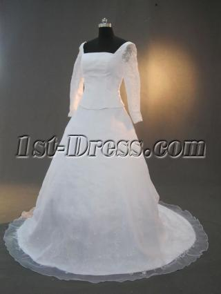 Modest Winter Wedding Gowns with Long Sleeves IMG_3284