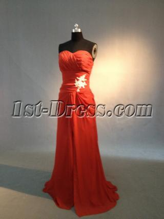 Red Sweetheart Junior Bridesmaid Dresses 0245