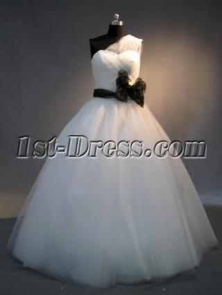 Romantic White and Black Cute Quinceanera Gown IMG_4039