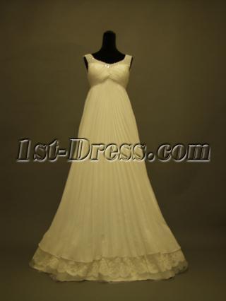 Scoop Pregnancy Wedding Dresses Summer Modest 231