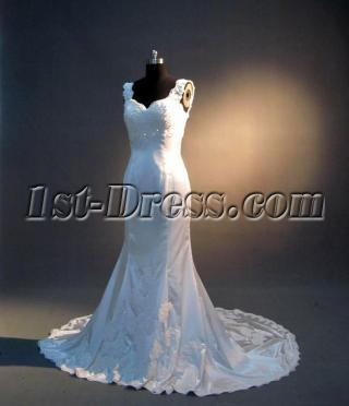 Sheath Affordable Simple Bridal Gown IMG3413