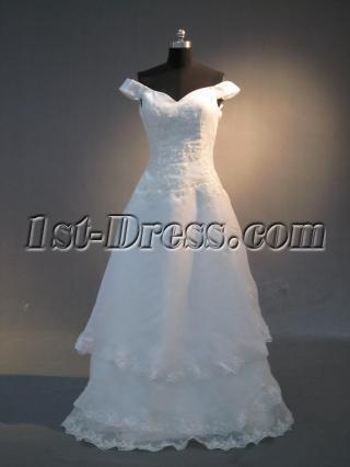 Simple Vintage Off Shoulder Wedding Dresses Mature IMG_3944