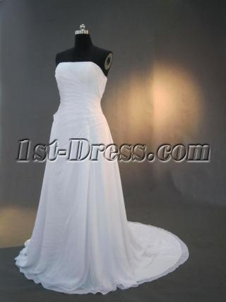Strapless Chiffon Western Bridal Gown with Corset Back IMG_3249