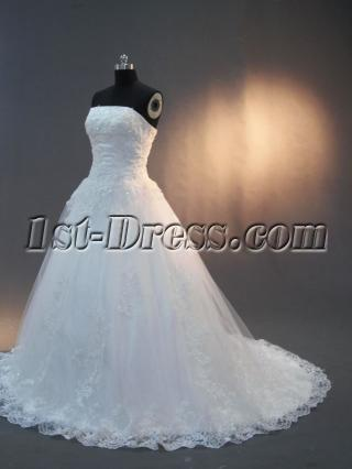 Strapless Elegant Lace Wedding Dresses 2012 IMG-2943