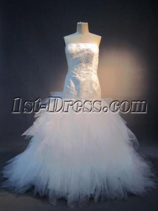 Strapless Mermaid Bridal Gowns for Full Figured IMG_3730