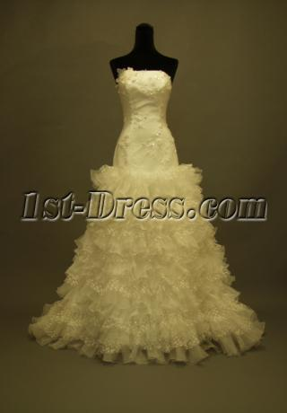 Strapless Romantic 2012 Bridal Gowns Boston 228