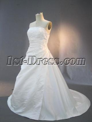 Strapless Simple Plus Size Bridal Dresses IMG_3017