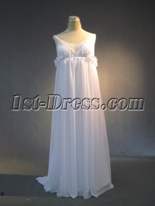 Summer Beach Maternity Wedding Gown Dress IMG_3966