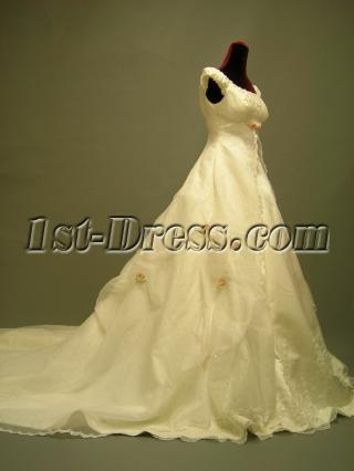 Traditional Scoop Empire Princess Bridal Gowns 2716