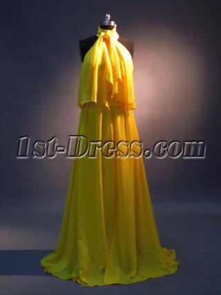 Uniques Halter Celebrity Dresses Yellow IMG_3430