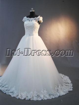 Vintage Lace off Shoulder Wedding Dress IMG_2998