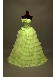 2011 Apple Green Quinceanera Dresses with Flowers IMG_6776