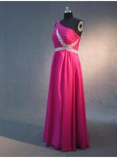 2013 One Shoulder Fuchsia Best Celebrity Gowns IMG_3271
