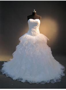 2013 Ruffle Basque Waist Bridal Gowns IMG_4031