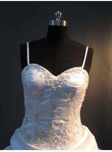 2013 Spaghetti Strap Wedding Dresses Satin Floor Length IMG_2919