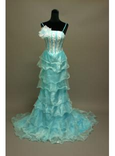 Aqua and White Military Ball Gown IMG_6772