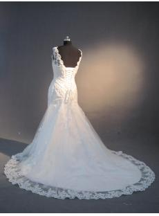 Bateau Neckline Lace Wedding Dresses with Low Back IMG_3989
