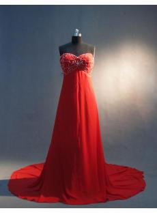 Beaded Red Empire Pregnancy Prom Dresses IMG_3342
