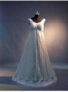 Beaded Scoop Pregnancy Prom Dress IMG_3545