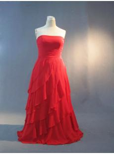 Beautiful Long Red Junior Plus Size Evening Wear IMG_3294