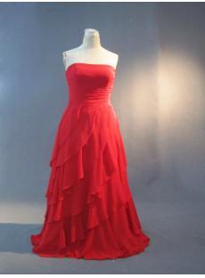 Beautiful Long Red Junior Plus Size Evening Wear IMG_3294