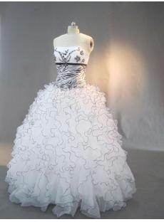 Black Beaded Zebra Quinceanera Dresses IMG_3014