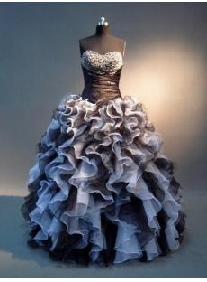 Black and White Colorful Quinceanera Dresses Gowns IMG_4051
