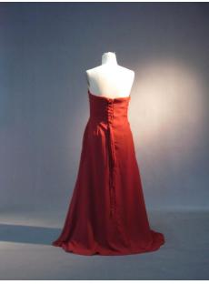 Burnt Orange Strapless Modest Bridesmaid Dress IMG_3626
