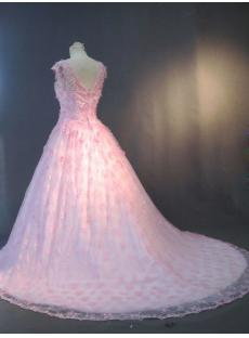 Cap Sleeves Pink 2013 Quinceanera Dresses with Train IMG_3297