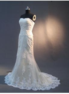 Champagne Sheath Bridal Gown Lace IMG_2983