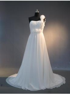 Cheap One Shoulder Chiffon casual Wedding Dresses for Spring IMG_3973
