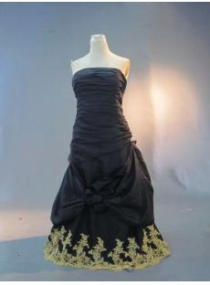 Cheap Strapless Black Quince Gown IMG_3245