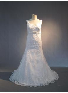 Column Ivory Lace Plus Size Bridal Gown IMG_3744
