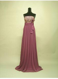 Dark Purple Empire Maternity Prom Dresses 3056