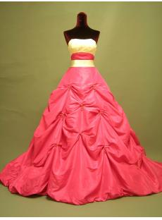 Fuchsia and Ivory Beautiful 2013 Bridal Gown 2723