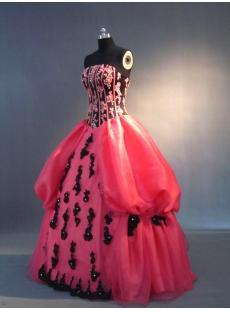 Fuchsia with Black Pretty Quince Dress IMG_3467