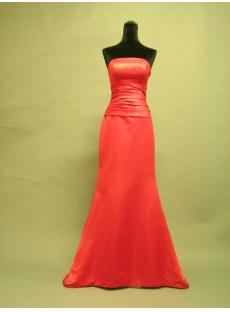 Glamorous Red Simple Sheath Floor Length with Train 2683