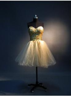 Gold Sequins Pretty Sweet 16 Gown IMG_3590
