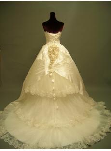 Gothic Wedding Bridal Gown Dresses Cheap 2691