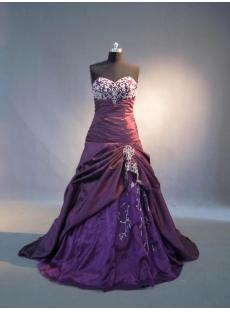 Grape Purple Pretty Quinceanera Dresses IMG_4017