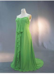 Green Plus Size Ruffles Prom Dress IMG_3244