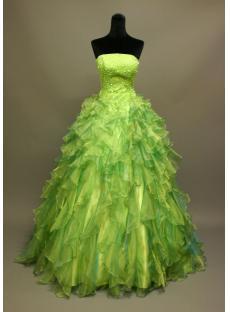 Green Princess Quincenera Dress IMG_6837