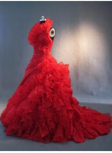 Halter Gothic Red Bridal Gowns IMG_3351