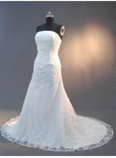Ivory Mature Lace Column Wedding Gown IMG_2927