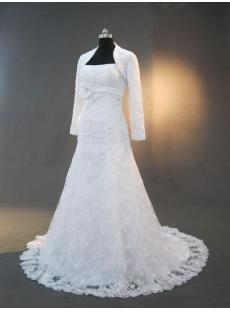 Lace Bridal Gowns with Long Sleeves Jacket IMG_3286